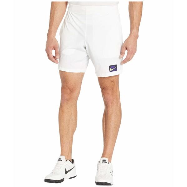 ナイキ メンズ ハーフ&ショーツ ボトムス NikeCourt Flex Ace Shorts NY NT AOP White/Volt