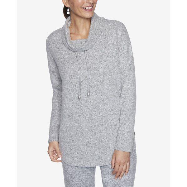 Size Pullover レディース Gray Light/Pastel トップス Women's Cowl Neck カットソー ルビーロード Knit Plus