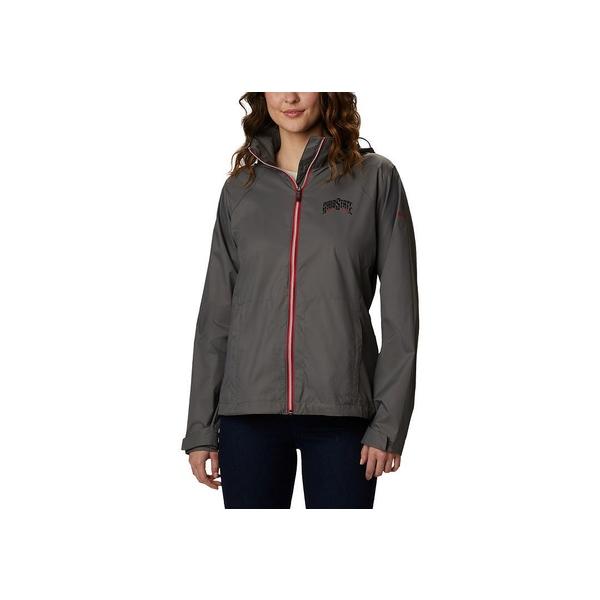 コロンビア レディース アウター ジャケット ブルゾン Charcoal セール 全商品無料サイズ交換 選択 State Buckeyes Ohio Jacket Women's Switchback