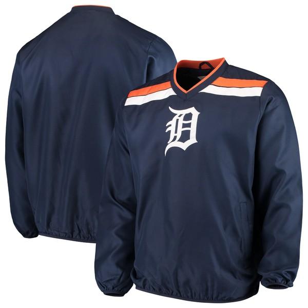 カールバンクス メンズ ジャケット&ブルゾン アウター Detroit Tigers GIII Sports by Carl Banks Progression VNeck Pullover Jacket Navy
