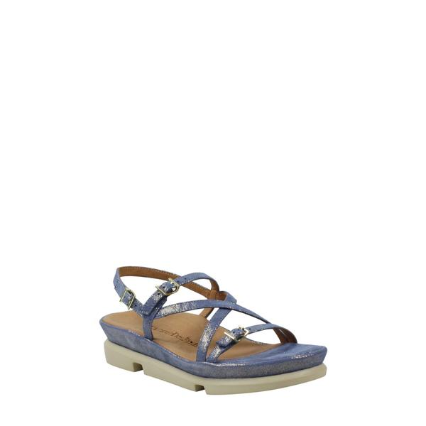 ラモールドピード レディース サンダル シューズ 'Verdun' Crisscross Sandal Blue/ Gold Shimmer Leather