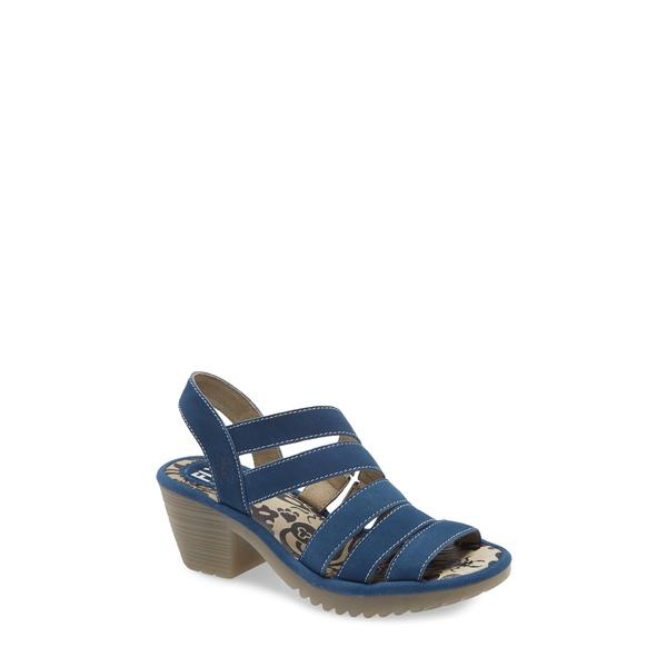 フライロンドン レディース サンダル シューズ Woze Sandal Blue Cupido Leather