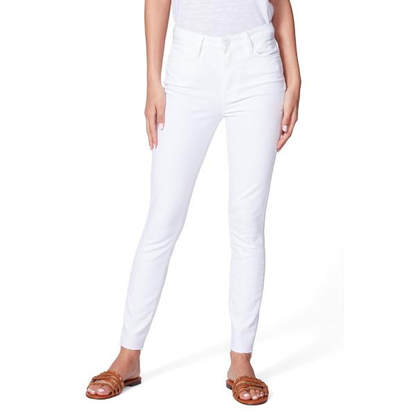 ペイジ レディース デニムパンツ ボトムス Margot Raw Hem Ankle Skinny Jeans Crisp White