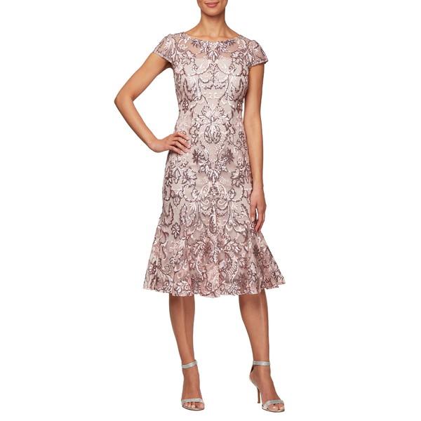 アレックスイブニングス レディース ワンピース トップス Sequin Cocktail Dress Blossom