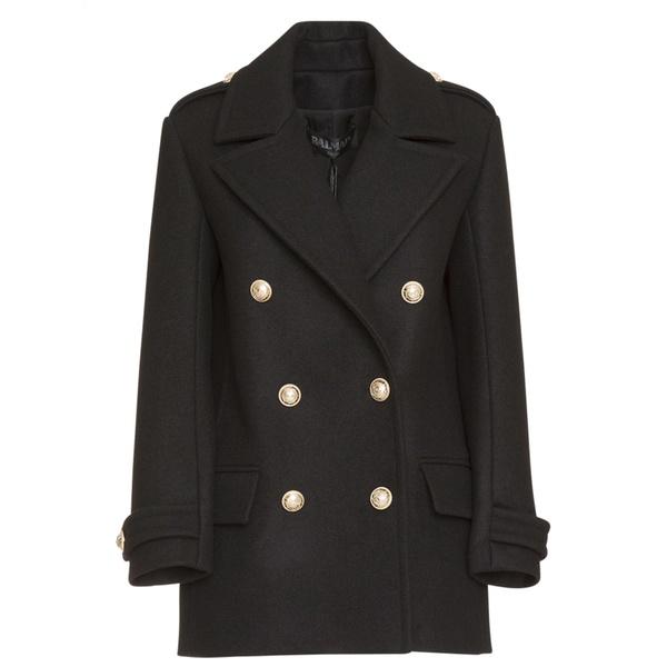 バルマン レディース ジャケット&ブルゾン アウター Balmain Coat In Black Wool -