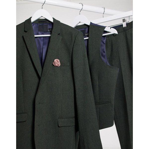 skinny mix jacket エイソス wool twill ジャケット&ブルゾン ASOS メンズ Khaki アウター khaki wedding suit super DESIGN in