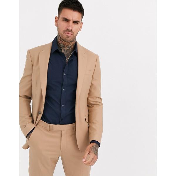 ジャケット&ブルゾン Camel jacket Island アウター suit skinny メンズ リバーアイランド in River camel