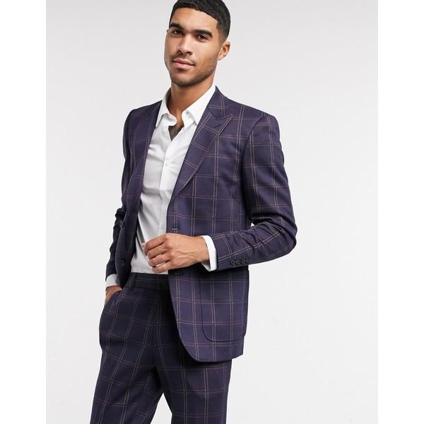 メンズ アウター suit navy ジャケット&ブルゾン check jacket in Sons Only オンリーアンドサンズ & Dress blues