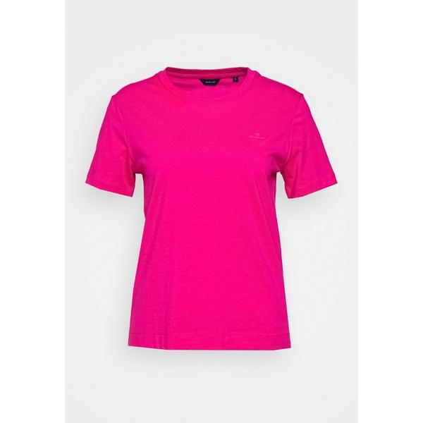 ガント レディース トップス Tシャツ rich pink 全商品無料サイズ交換 ORIGINAL jtop0133 ファクトリーアウトレット THE 至上 Basic - T-shirt