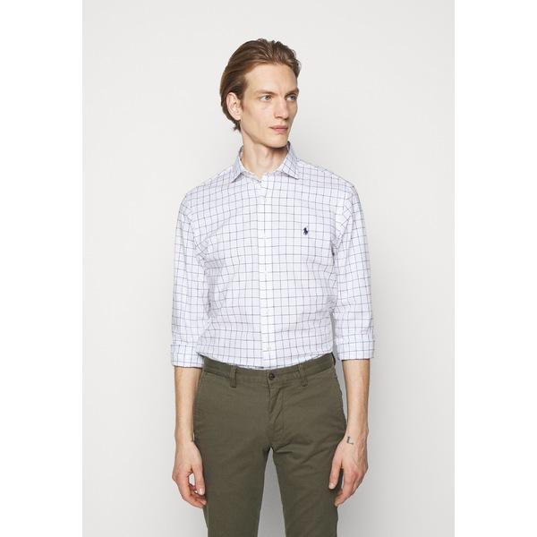 ラルフローレン 高級な メンズ トップス シャツ white セール 登場から人気沸騰 blue 全商品無料サイズ交換 FIT jtop0137 STRETCH SLIM Shirt -
