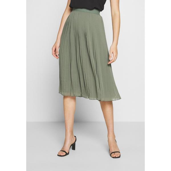 発売モデル エヌ エー ケイ ディ レディース ボトムス スカート khaki 全商品無料サイズ交換 - jtop0138 PLEATED green skirt お求めやすく価格改定 A-line SKIRT