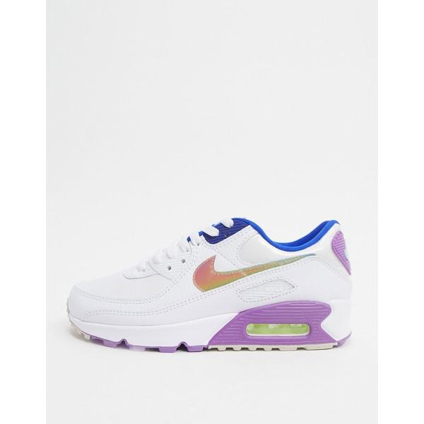ナイキ レディース スニーカー シューズ Nike Air Max 90 sneakers in white and purple White purple