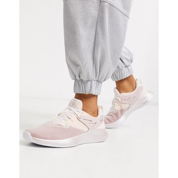 アンダーアーマー レディース スニーカー シューズ Under Armour Training Charged Breathe sneakers in pink Pink