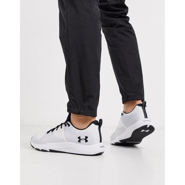 アンダーアーマー メンズ スニーカー シューズ Under Armour Training Charged Engage sneakers in white White