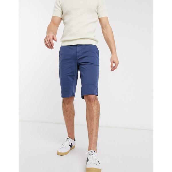 ボス メンズ カジュアルパンツ ボトムス BOSS Schino slim fit shorts in navy Navy