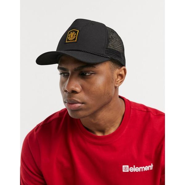 エレメント メンズ 帽子 アクセサリー Element Wolfeboro trucker cap in black 3732 flint black
