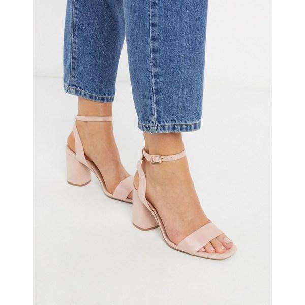 ストラディバリウス レディース サンダル シューズ Stradivarius heeled sandal in pink Pink