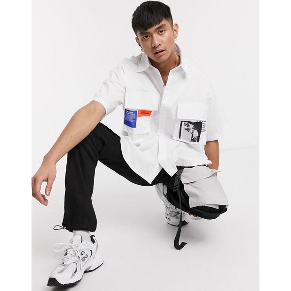 シックスジュン メンズ シャツ トップス Sixth June shirt with print pockets in white White