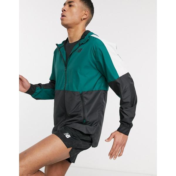 ニューバランス メンズ ジャケット&ブルゾン アウター New Balance Running tenacity quarter zip mid-layer in green Green