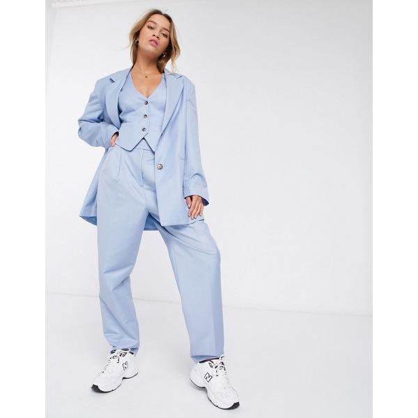 エイソス レディース カジュアルパンツ ボトムス ASOS DESIGN extreme dad 3 piece suit pants Powder blue