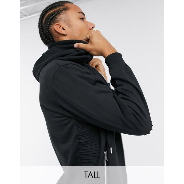 ボロンガロトレバー メンズ アウター パーカー スウェットシャツ 期間限定特別価格 Black 全商品無料サイズ交換 Bolongaro biker Trevor hoodie セール 登場から人気沸騰 thru zip TALL