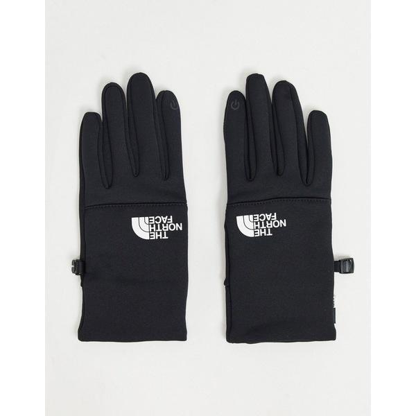 ノースフェイス メンズ 手袋 アクセサリー The North Face Etip recycled white logo glove in black Tnf black/tnf white