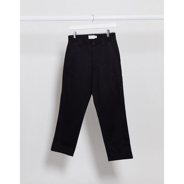 leg ボトムス Black メンズ pants Topman cropped トップマン in black カジュアルパンツ organic wide