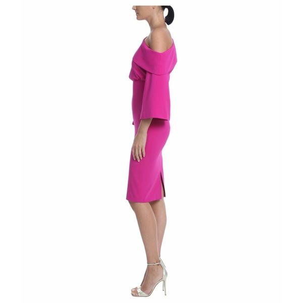 バッジェリーミシュカ レディース ワンピース トップス Asymmetrical Off-the-Shoulder Cocktail Dress Midnight