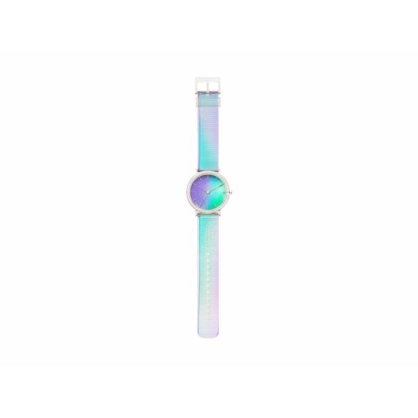 スカーゲン メンズ 腕時計 アクセサリー Aaren Limited Edition Three-Hand Iridescent Watch SKW6641 Iridescent Clear Silicone