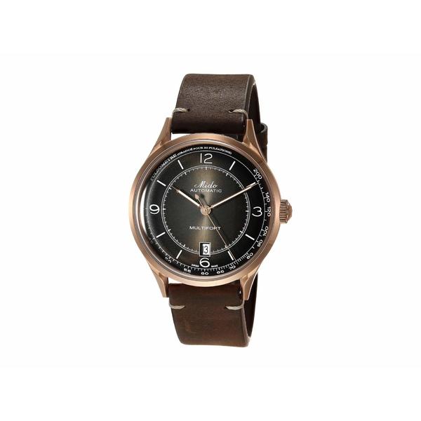ミド メンズ 腕時計 アクセサリー 40 mm Multifort Patrimony Automatic Leather Strap - M0404073606000 Brown