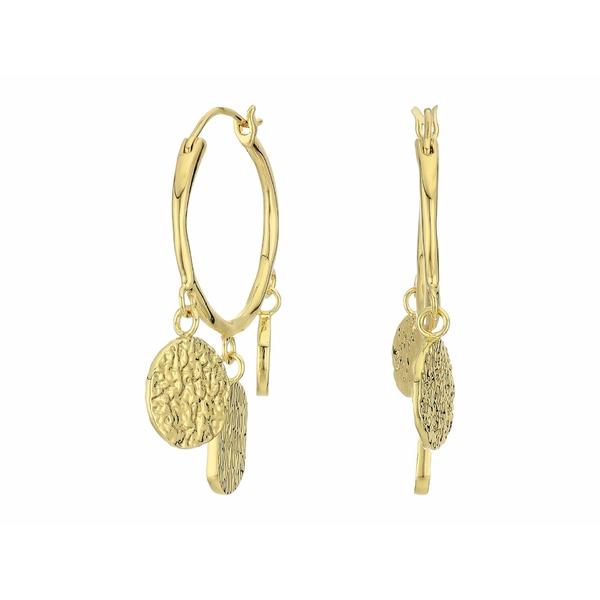 ゴリアナ レディース ピアス&イヤリング アクセサリー Banks Coin Hoops Earrings Gold