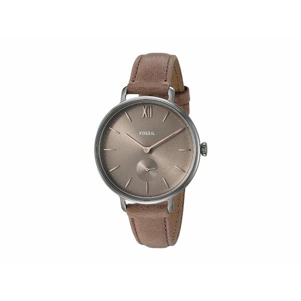 フォッシル レディース 腕時計 アクセサリー Kalya Three-Hand Watch ES4664 Silver Beige Leather