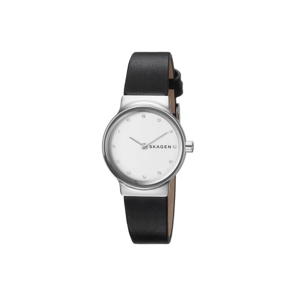 スカーゲン レディース 腕時計 アクセサリー Freja Two-Hand Watch SKW2668 Silver Black Leather