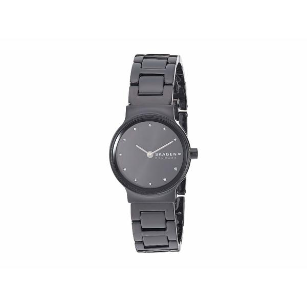 スカーゲン レディース 腕時計 アクセサリー Freja Two-Hand Watch SKW2830 Black Stainless Steel