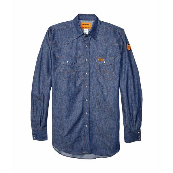 ラングラー メンズ シャツ トップス Flame Resistant Long Sleeve Snap Work Shirt Denim