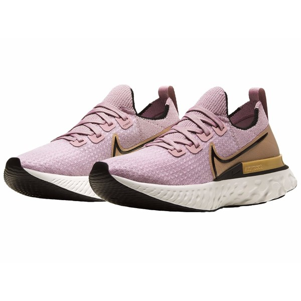 ナイキ レディース スニーカー シューズ React Infinity Run FK Plum Fog/Black/Metallic Gold