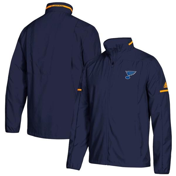 アディダス メンズ ジャケット&ブルゾン アウター St. Louis Blues adidas Rink Full-Zip Jacket Blue