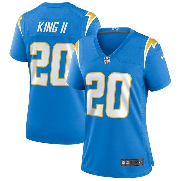 ナイキ レディース シャツ トップス Desmond King Los Angeles Chargers Nike Women's Game Jersey Powder Blue