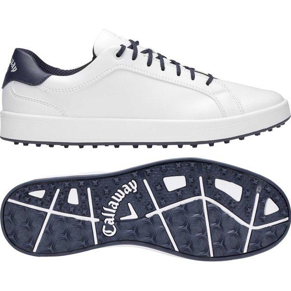 キャラウェイ メンズ ゴルフ スポーツ Callaway Men's Del Mar Golf Shoes White/Navy