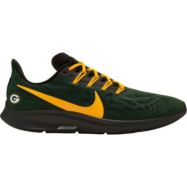 ナイキ メンズ ランニング スポーツ Nike Men's Green Bay Packers Air Zoom Pegasus 36 Running Shoes Green/Gold