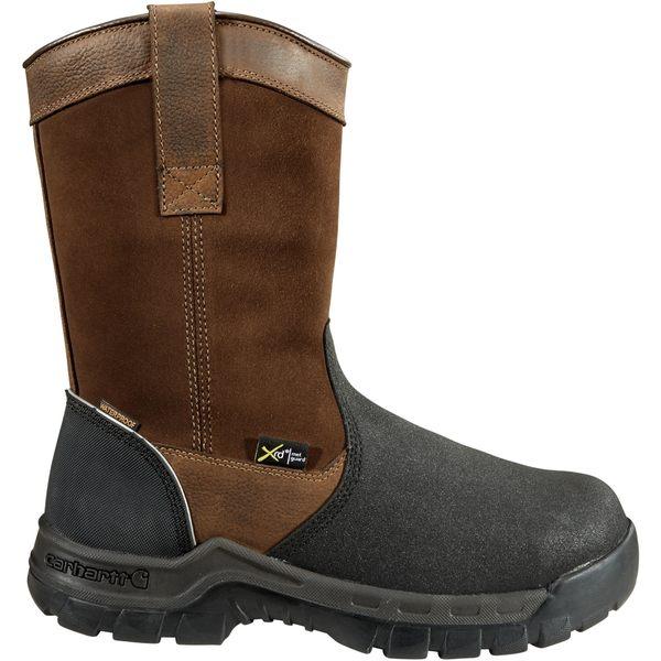 カーハート メンズ ブーツ&レインブーツ シューズ Carhartt Men's 11'' Wellington Waterproof MetGuard Composite Toe Work Boots BrownOilTanned