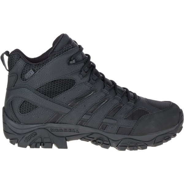 メレル メンズ ブーツ&レインブーツ シューズ Merrell Men's Moab 2 Mid Waterproof Tactical Boots Black