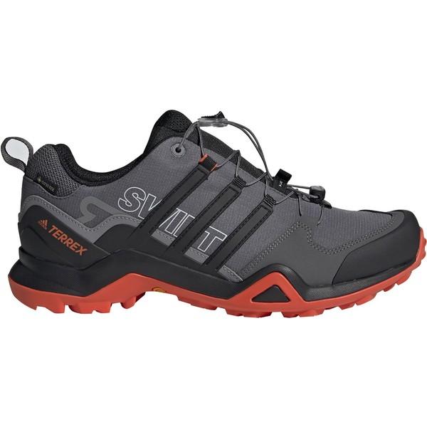 アディダス メンズ ブーツ&レインブーツ シューズ adidas Terrex Men's Swift R2 GTX Waterproof Hiking Shoes GreyFive/Black/Orange