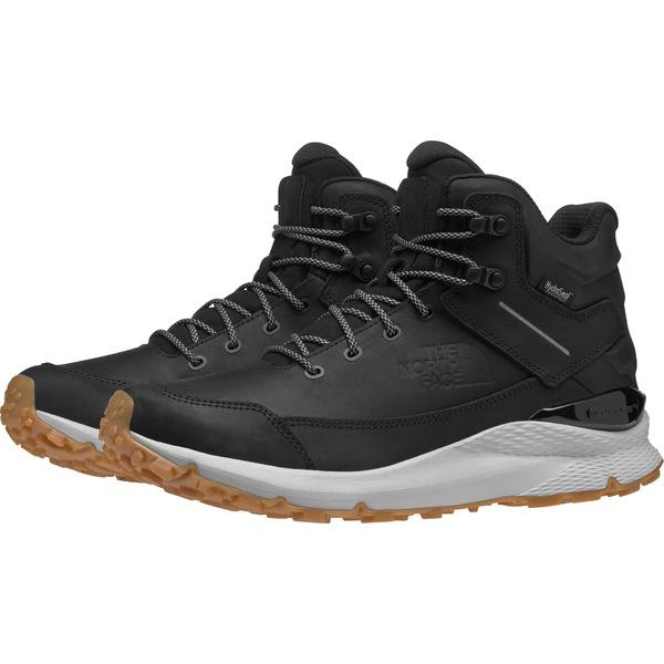 ノースフェイス メンズ ブーツ&レインブーツ シューズ The North Face Men's Vals Mid Leather Waterproof Hiking Boots TNFBlack/SpackleGrey