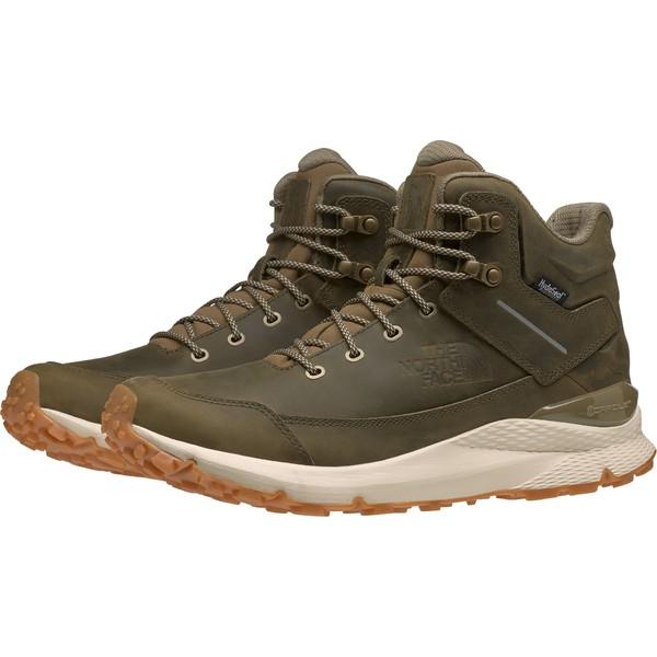 ノースフェイス メンズ ブーツ&レインブーツ シューズ The North Face Men's Vals Mid Leather Waterproof Hiking Boots Nutria/VintageWhite