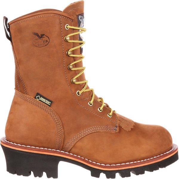 ジョージアブーツ メンズ ブーツ&レインブーツ シューズ Georgia Boot Men's Logger 400g GORE-TEX Steel Toe Work Boots Brown