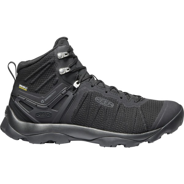キーン メンズ ブーツ&レインブーツ シューズ KEEN Men's Venture Mid Waterproof Hiking Boots Black/Black