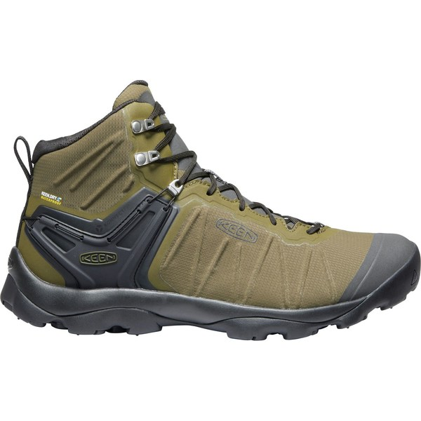 キーン メンズ ブーツ&レインブーツ シューズ KEEN Men's Venture Mid Waterproof Hiking Boots DarkOlive/Raven