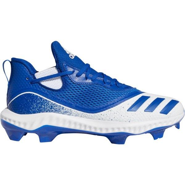 アディダス メンズ 野球 スポーツ adidas Men's Icon V Bounce Baseball Cleats Royal/White