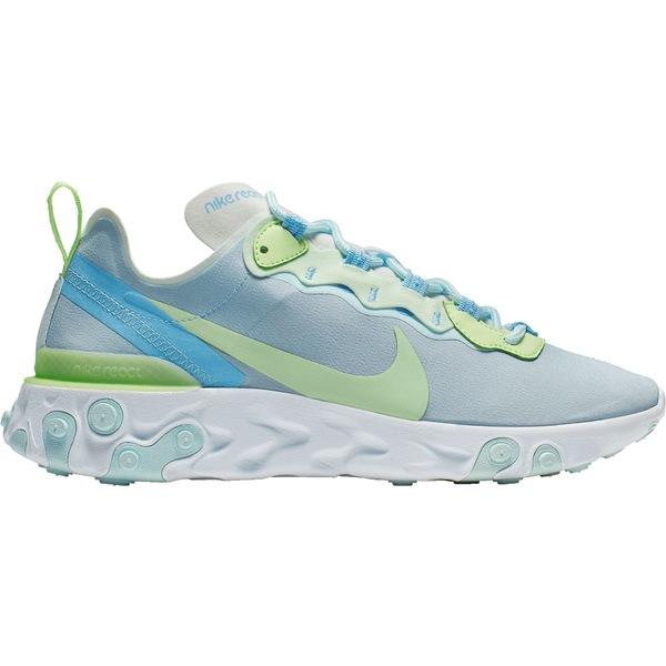 ナイキ レディース スニーカー シューズ Nike Women's React Element 55 Shoes White/Blue/Green
